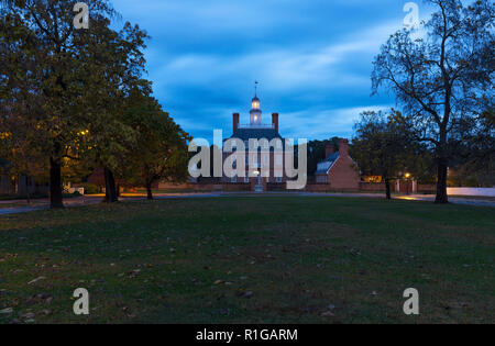 Governors Palace Colonial Williamsburg Virginia - Stock Photo