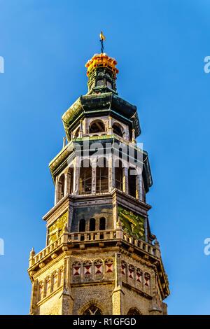 Lange Jan Toren (Long John Tower) of the medieval Abbey in the Historic City of Middelburg in Zeeland Province, the Netherlands - Stock Photo
