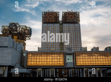 30 October 2018 Moscow, Russia. The Presidium of the Russian Academy of Sciences in Moscow. - Stock Photo