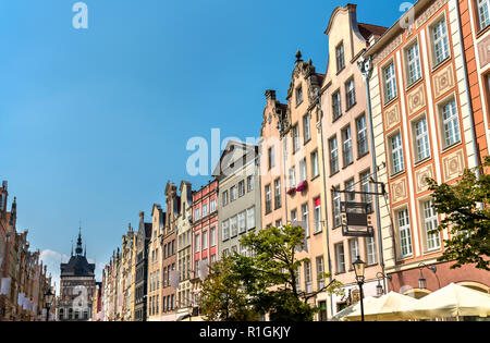 Buildings in the historic centre of Gdansk - Pomerania, Poland - Stock Photo