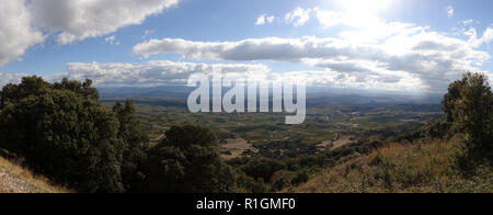 Panoramic of Santo Domingo de la Calzada, Camino de Santiago, Spain - Stock Photo
