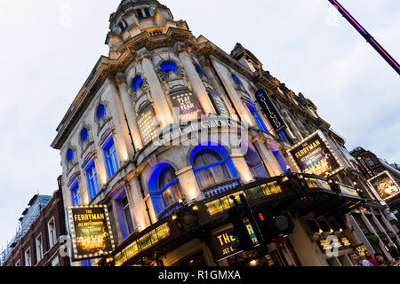 The Gielgud Theatre is a West End theatre, located on Shaftesbury Avenue in the City of Westminster, London, at the corner of Rupert Street. The Ferry - Stock Photo