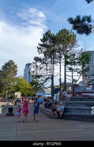 Images from a walk along Halifax Harbor. Halifax, Nova Scotia, Canada. - Stock Photo