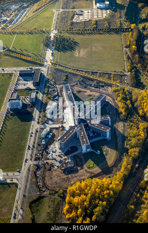 Aerial View, Amprion GmbH, based in Dortmund is a German transmission system operators, new place, new headquarters Amprion at Phoenix West, Dortmund- - Stock Photo