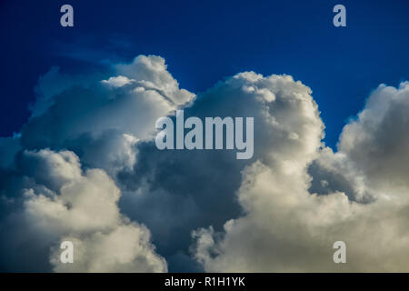 Storm clouds passing over Plymouth. - Stock Photo