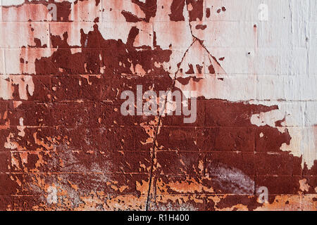 Old cement wall texture background in red tones - Stock Photo
