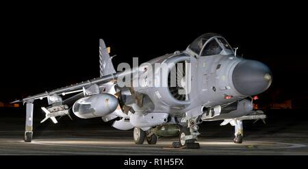 Royal Navy Sea Harrier  FA2, ZH801 , 001, - Stock Photo