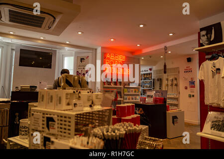 The Abbey Road shop selling various music related gifts, London, England, United Kingdom - Stock Photo