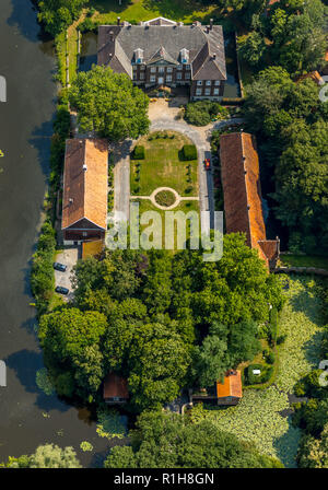 Steinfurt Castle, moated castle, Drensteinfurt, Münsterland, North Rhine-Westphalia, Germany - Stock Photo