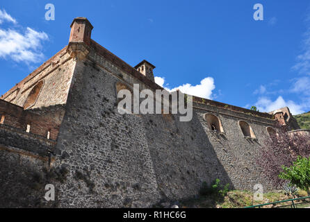 Fort Liberia, Villefranche-de-Conflent, Pyrenees-Orientales, Occitanie, France - Stock Photo