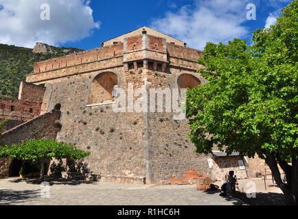 Fort Liberia, Villefranche-de-Conflent, Pyrenees-Orientales, Occitanie, France - Stock Photo