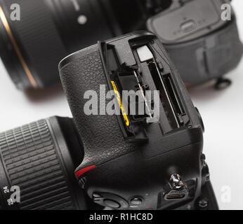 SAINT-PETERSBURG, RUSSIA - APRIL 27, 2018: Nikon D800E SLR Camera - Stock Photo