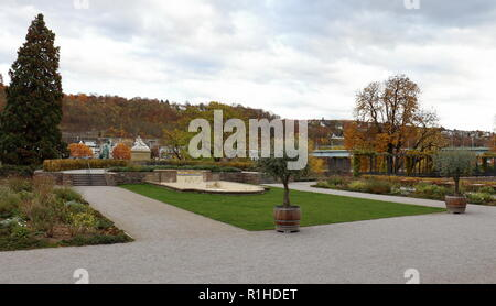 Taken in the gardens of the Kurfürstliches Schloss (Electoral Palace) in Koblenz, Germany. - Stock Photo