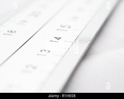 Close up at a metric scale - Stock Photo