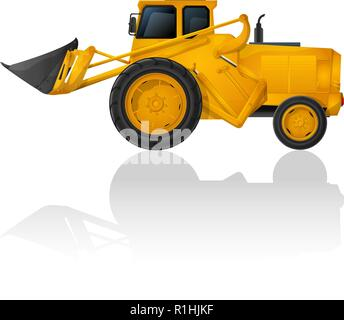 Vector  earth mover icon on white background - Stock Photo