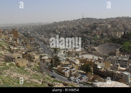 The view from the castle of Amman, Jordan - Stock Photo