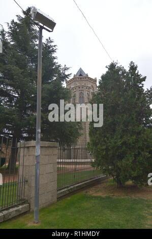 Tower Of The Episcopal Palace Of Gaudi In Astorga. Architecture, History, Camino De Santiago, Travel, Street Photography. November 1, 2018. Astorga, L - Stock Photo
