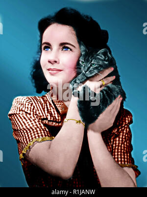 Dame Elizabeth Rosemond Taylor DBE (February 27, 1932 ñ March 23, 2011) was a British-born American actress, businesswoman, and humanitarian. She began her career as a child actress in the early 1940s, and was one of the most popular stars of classical Hollywood cinema in the 1950s. She continued her career successfully into the 1960s, and remained a well-known public figure for the rest of her life. In 1999, the American Film Institute named her the seventh-greatest female screen legend. Credit: Hollywood Photo Archive / MediaPunch - Stock Photo