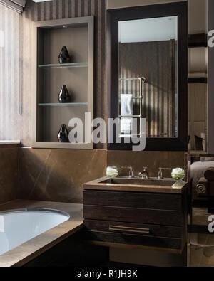 Masculine bathroom - Stock Photo