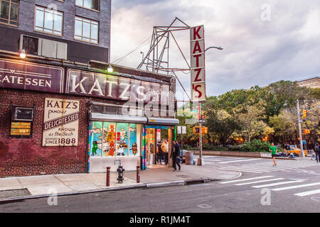 Katz's Deli, A Delicatessen diner on the Lower East Side, Manhattan, New York City, N.Y, United States of America. U.S.A