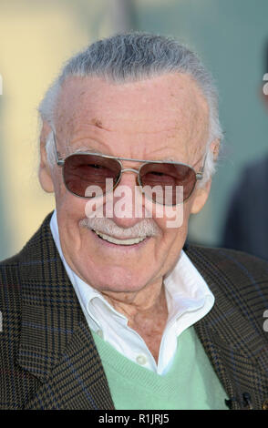 California, USA. 04th Jan, 2011. US artist and comic book creator Stan Lee is pictured during the award ceremony of his star at the Hollywood Walk of Fame in California, USA, 04 January 2011. Lee, publisher of Marvel Comics since 1972 and co-creator of Spider-Man, The Incredible Hulk and Iron Man, among others, was awarded the 2,428th Star on the Hollywood Walk of Fame. Credit: Hubert Boesl | usage worldwide/dpa/Alamy Live News - Stock Photo