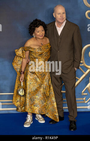 London, 13th Nov, 2018.    (L-R) Yvonne Walcott and director David Yates attends the premiere of the film 'Fantastic Beasts: The Crimes of Grindelwald' in Leicester square  on November 13, 2018 England.© Jason Richardson / Alamy Live News - Stock Photo
