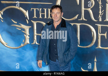 London, 13th Nov, 2018.  Jason Isaacs attends the premiere of the film 'Fantastic Beasts: The Crimes of Grindelwald' in Leicester square  on November 13, 2018 England.© Jason Richardson / Alamy Live News - Stock Photo