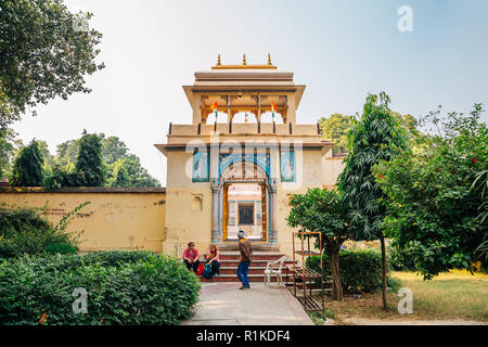 Varanasi, India - November 23, 2017 : Digambar Jain Mandir temple at Sarnath - Stock Photo