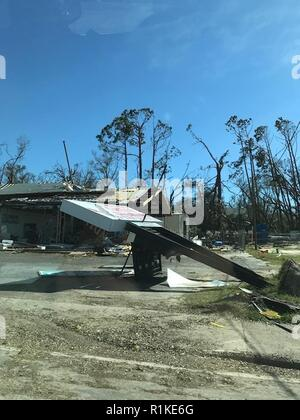 The U.S. Army Corps of Engineers (USACE) is working in partnership with the local, state, and federal response for Hurricane Michael. The storm impacted the South Atlantic Division and SAD Commander Brig. Gen. Diana Holland toured parts of the damaged area recently and captured these images. - Stock Photo