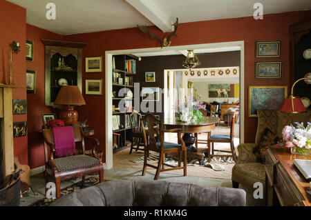 Victorian style living room - Stock Photo
