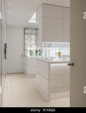 White modern kitchen - Stock Photo