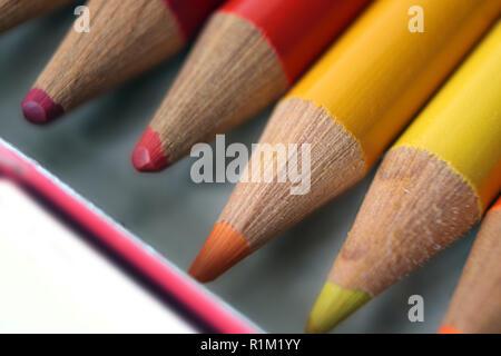 Color pencils, close-up - Stock Photo