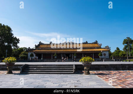 Thai Hoa Palace Inside the walled citadel the Imperial City Hue Vietnam Asia  Hoang thanh UNESCO World Heritage Site - Stock Photo