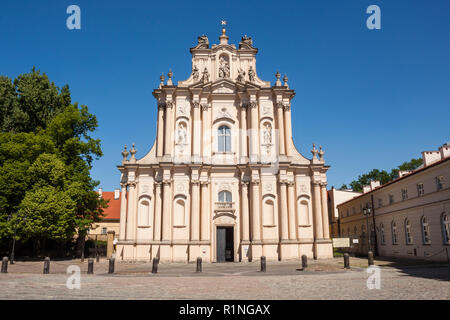 Church of St. Joseph of the Visitationists on  Krakowskie Przedmiescie (Krakow suburb) street in Warsaw, Poland. It's construction was completed in 17 - Stock Photo