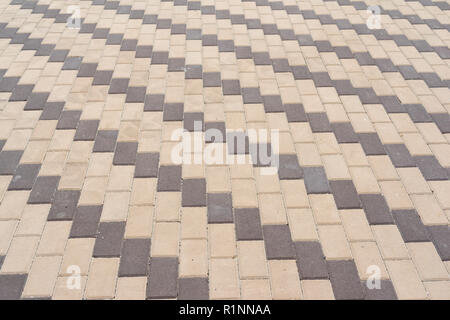 stone pavement in the sun, closeup - Stock Photo