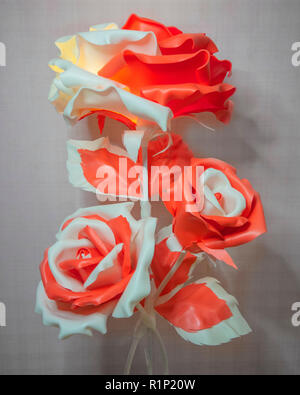 large artificial flowers, home decor - Stock Photo