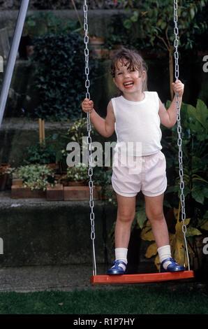 Children in the 1980s - Stock Photo