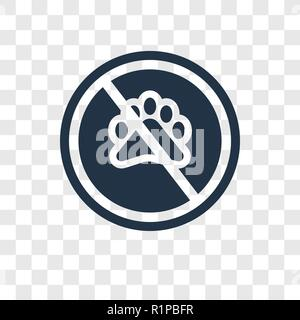 No animals vector icon isolated on transparent background, No animals transparency logo concept - Stock Photo