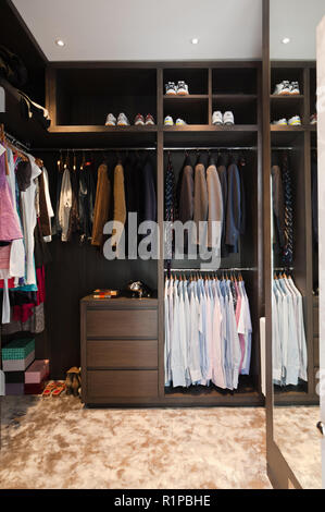 Masculine dressing room - Stock Photo