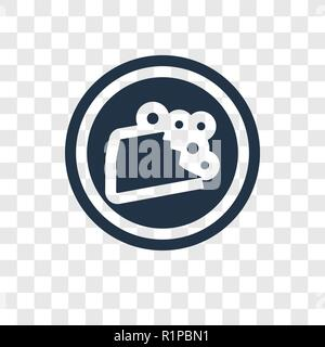 Falling rocks vector icon isolated on transparent background, Falling rocks transparency logo concept - Stock Photo