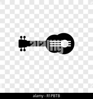 Guitar vector icon isolated on transparent background, Guitar transparency logo concept - Stock Photo