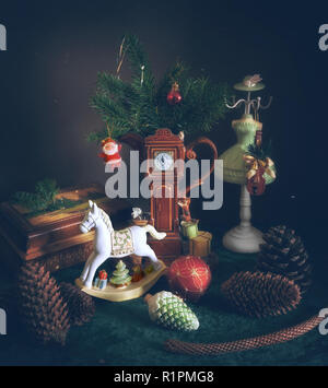 New Year. Christmas. fun. fairy tale. celebration. Christmas decorations. - Stock Photo