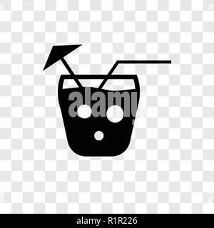 Mai tai vector icon isolated on transparent background, Mai tai transparency logo concept - Stock Photo