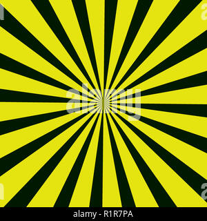 Black and yellow rays pattern in square format. - Stock Photo