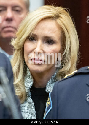 The Website Congress. 14th Nov, 2018. Pastor Paula White looks on as United States President Donald J. Trump announces his support of H. R. 5682, the 'First Step Act' in the Roosevelt Room of the White House in Washington, DC on Wednesday, November 14, 2018. According to the website congress.gov, this bill is titled 'the Formerly Incarcerated Reenter Society Transformed Safely Transitioning Every Person Act or the FIRST STEP Act.' It enjoys bipartisan support. Credit: Ron Sachs/CNP | usage worldwide Credit: dpa/Alamy Live News - Stock Photo