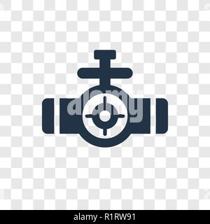 Valve vector icon isolated on transparent background, Valve transparency logo concept - Stock Photo