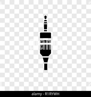 Audio jack vector icon isolated on transparent background, Audio jack transparency logo concept - Stock Photo