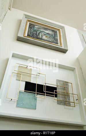 View below modern artwork - Stock Photo