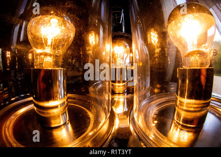 Old fashioned light bulbs close up - Stock Photo