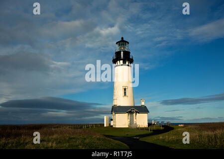 OR02387-00...OREGON - Yaquina Head Lighthouse in the Yaquina Head Outstanding Natural Area. - Stock Photo